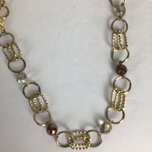 Gold link chunky chain mixed with clear and copper